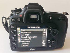 D7100 Rear Screen