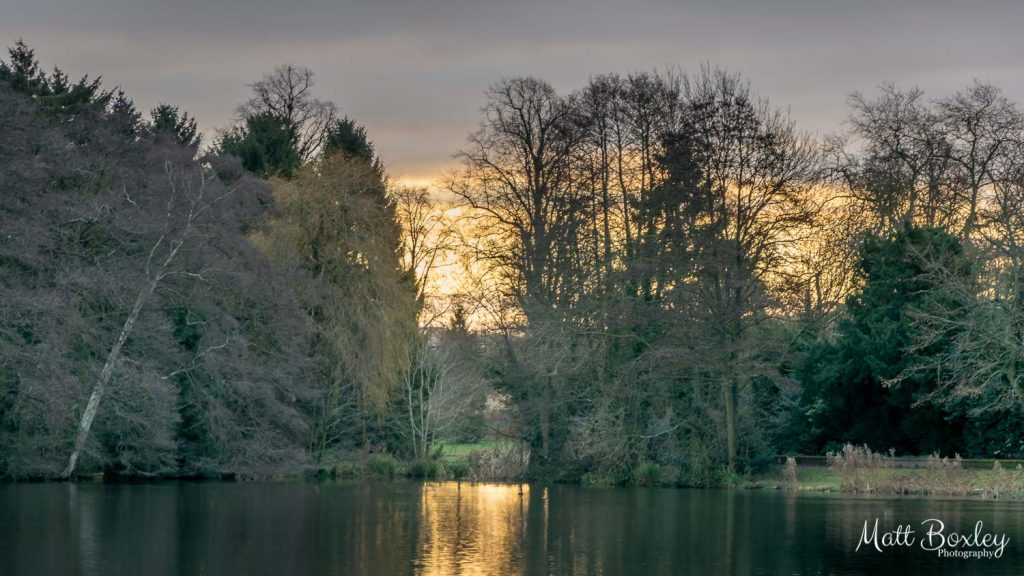 December sunrise at Himley Hall