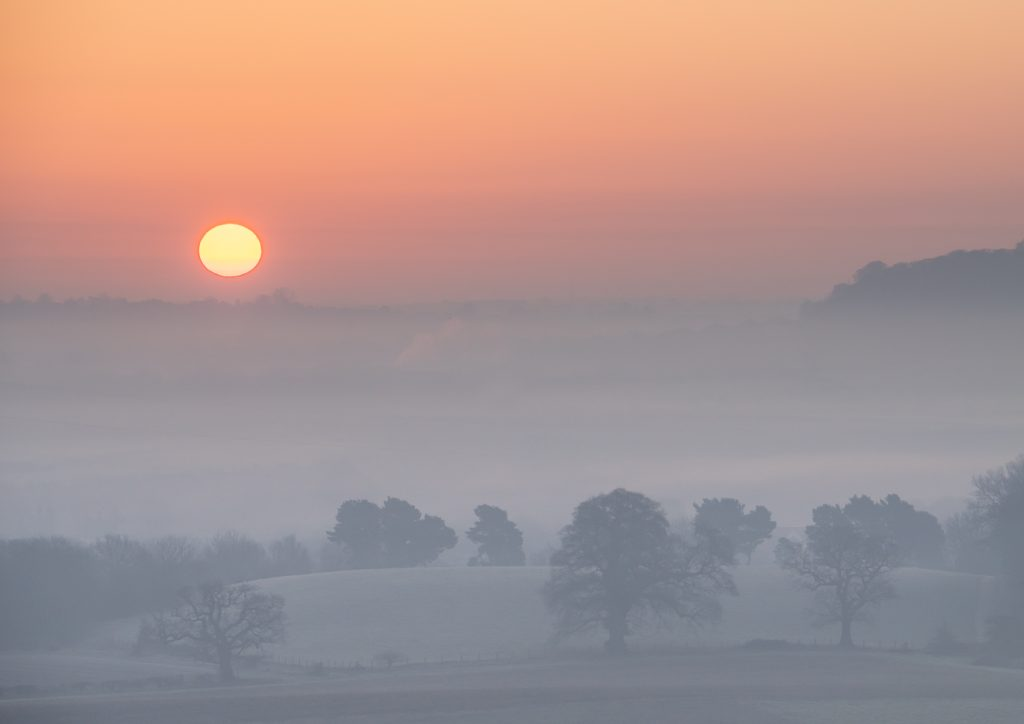 Landscape photography in mist and fog